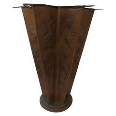 1920s Star Shaped Brass Umbrella Stand