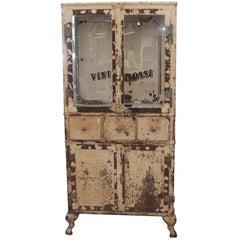 1920s Steel Beverage Cabinet Signed N.S. Low & Co.