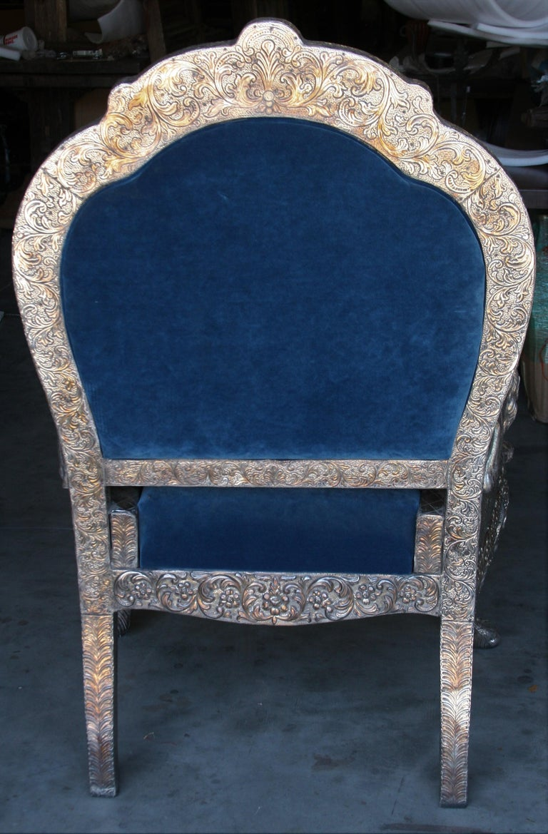 1920s Sterling Silver Custom Handcrafted Throne Type Chair