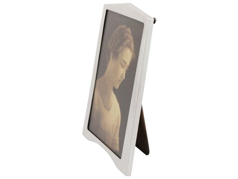English 1920s Sterling Silver Photograph Frame, Art Deco For Sale