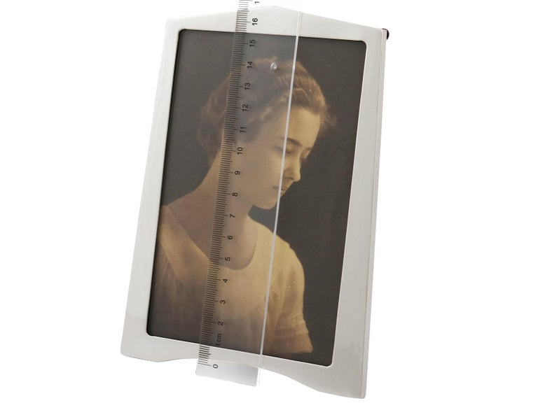 1920s Sterling Silver Photograph Frame, Art Deco For Sale 4