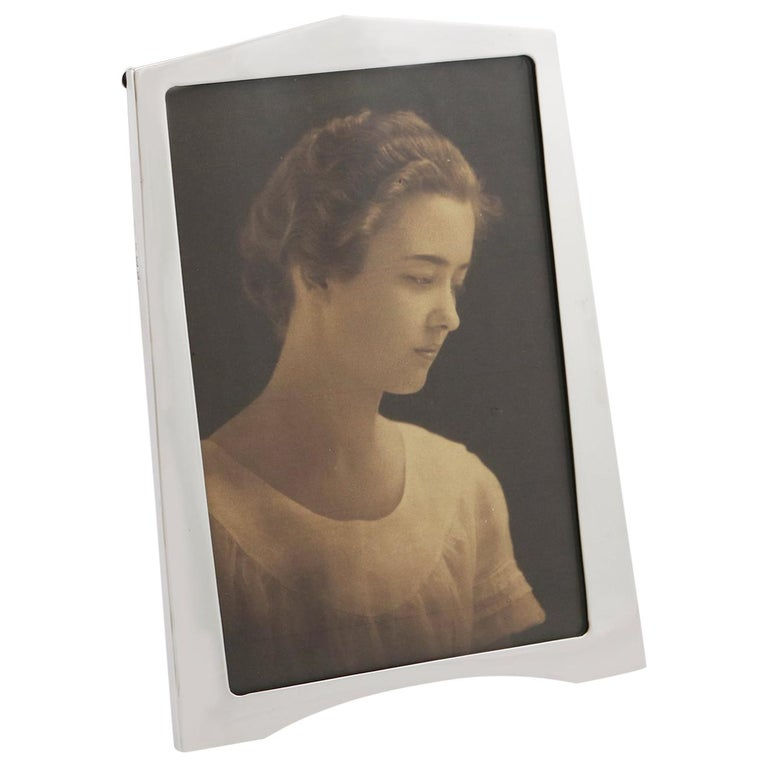 1920s Sterling Silver Photograph Frame, Art Deco For Sale