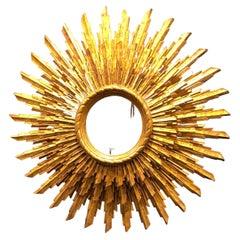 1920s French Sunburst Mirror