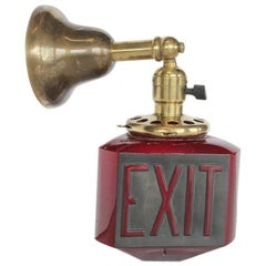 1920s Theatre Exit Light Wall Sconce