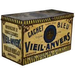1920s Tobacco Tin Box, Antwerp, Belgium