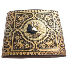 1920s Toledo Damascened Gold Inlay Cigarette Case