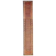 1920s Twin Antique Persian Rug Malayer Design, circa 1920s