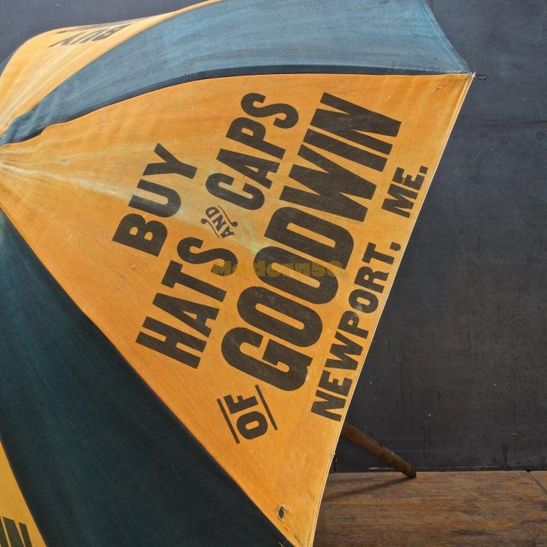 1920s Umbrella Parasol Advertising Mercantile Graphic Design Newport Beach Patio For Sale 1