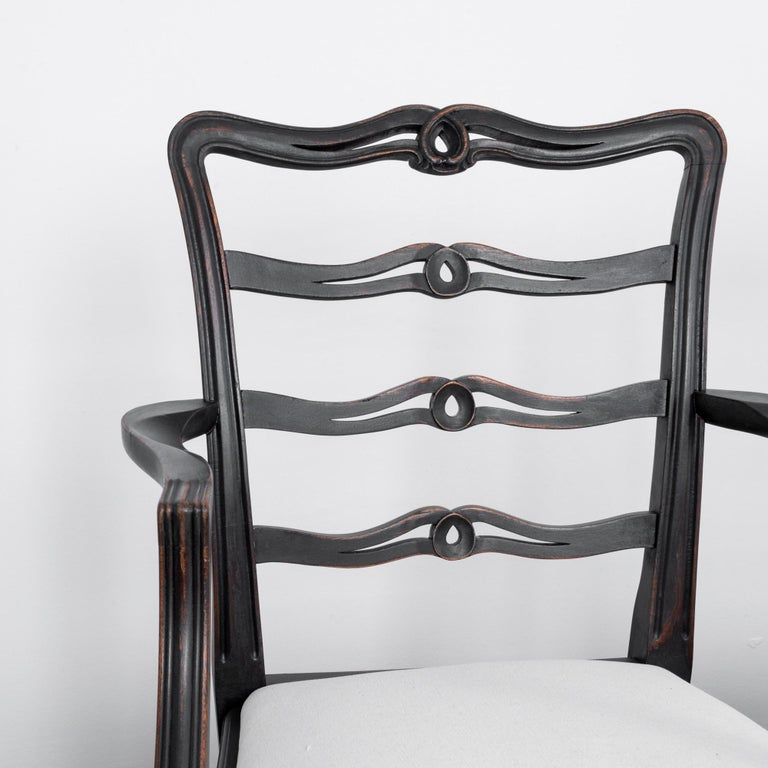 1920s Upholstered Dining Chairs, Set of Six 3