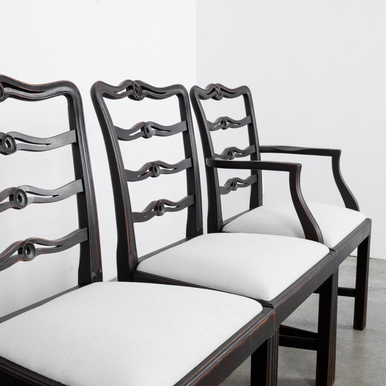 1920s Upholstered Dining Chairs, Set of Six 4