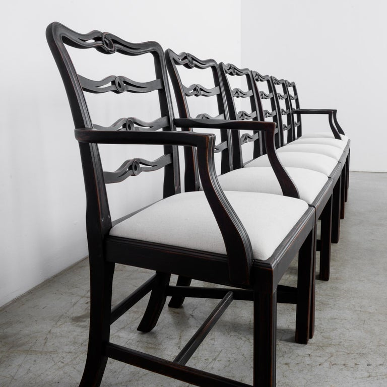 1920s Upholstered Dining Chairs, Set of Six 5