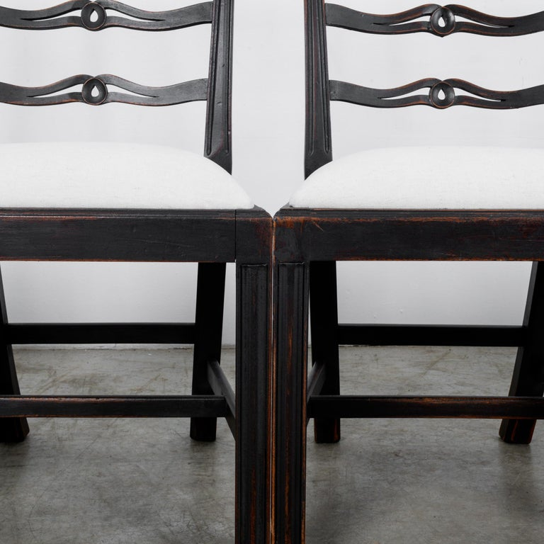 1920s Upholstered Dining Chairs, Set of Six 7