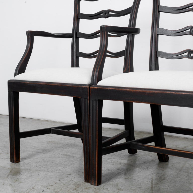 1920s Upholstered Dining Chairs, Set of Six 8