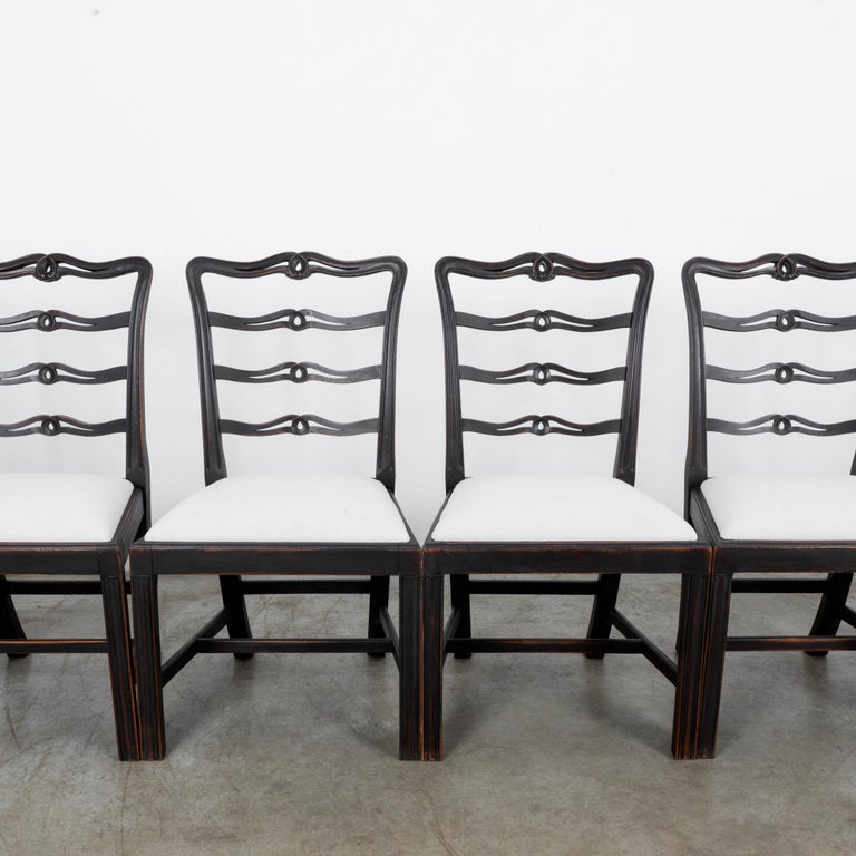 Early 20th Century 1920s Upholstered Dining Chairs, Set of Six