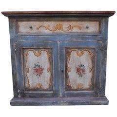 1920s Venetian Decorative Painted Side Cabinet