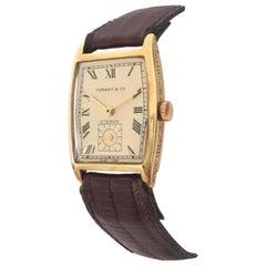 1920s Vintage 18 Karat Gold Tiffany & Co. Eterna Hand-Winding Wristwatch