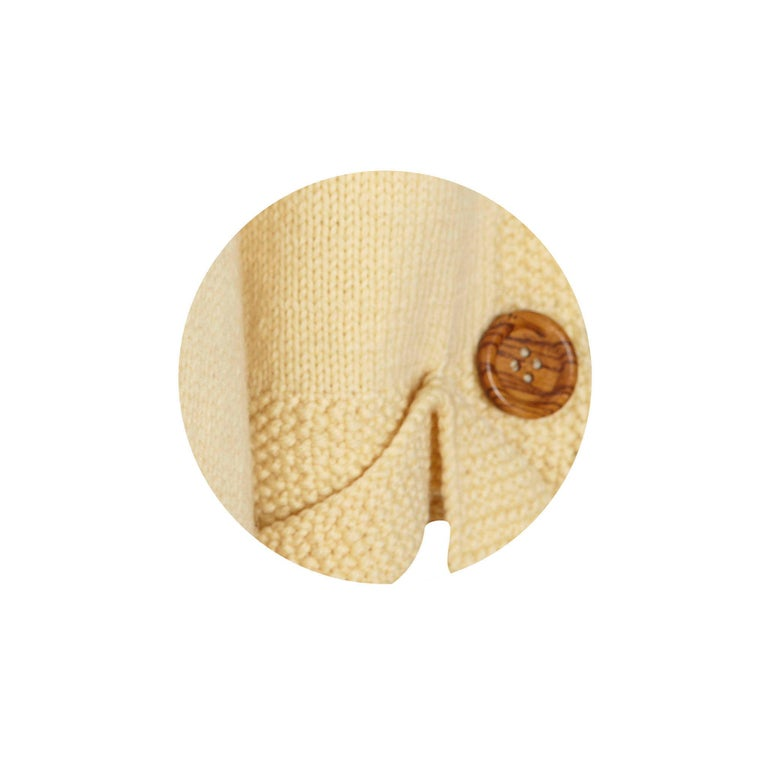 1920s Vintage Hand Knitted Sweater Coat Tie Collar Detail In Fair Condition For Sale In , GB