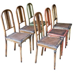 1920s Vintage Industrial Simmons Steel Bank Vault Dining Chairs
