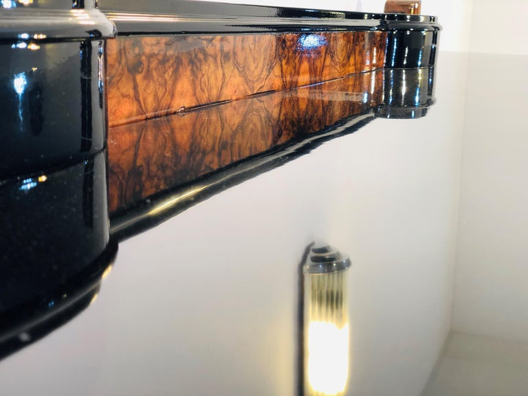 1920s Walnut Burl Art Deco Sideboard with Ornamentations, Limited Offer For Sale 2