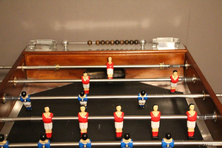 1920s Wood and Aluminum Foosball Table 4