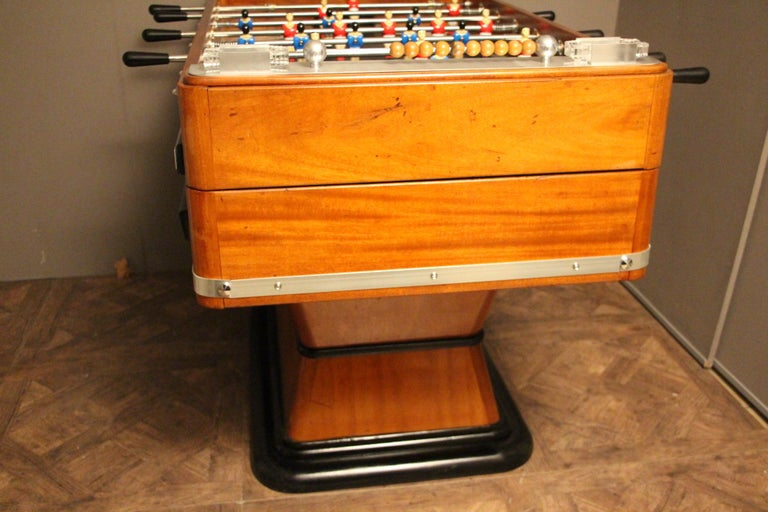 1920s Wood and Aluminum Foosball Table 5