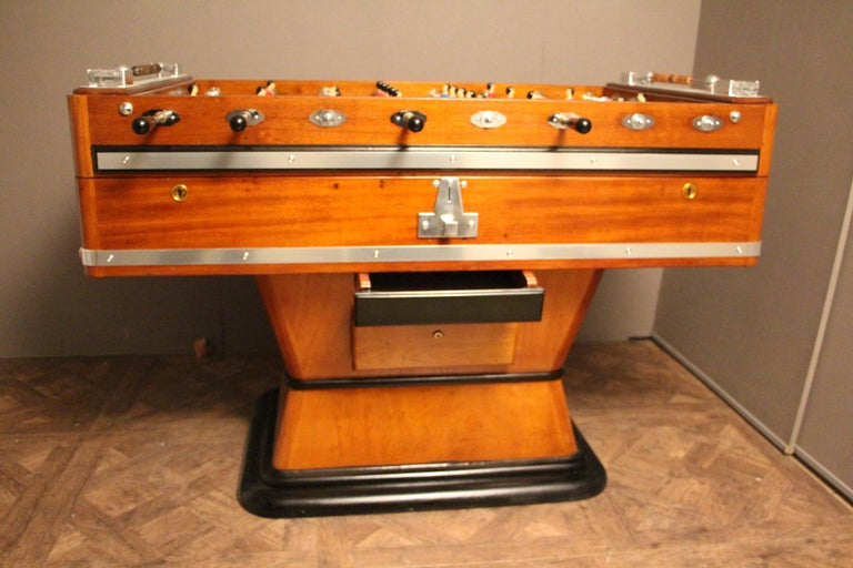 1920s Wood and Aluminum Foosball Table 1