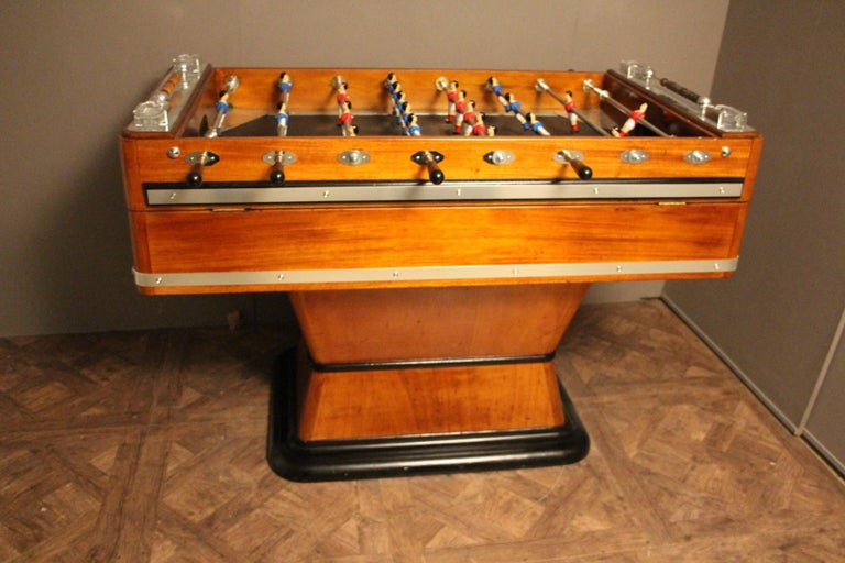 1920s Wood and Aluminum Foosball Table 3