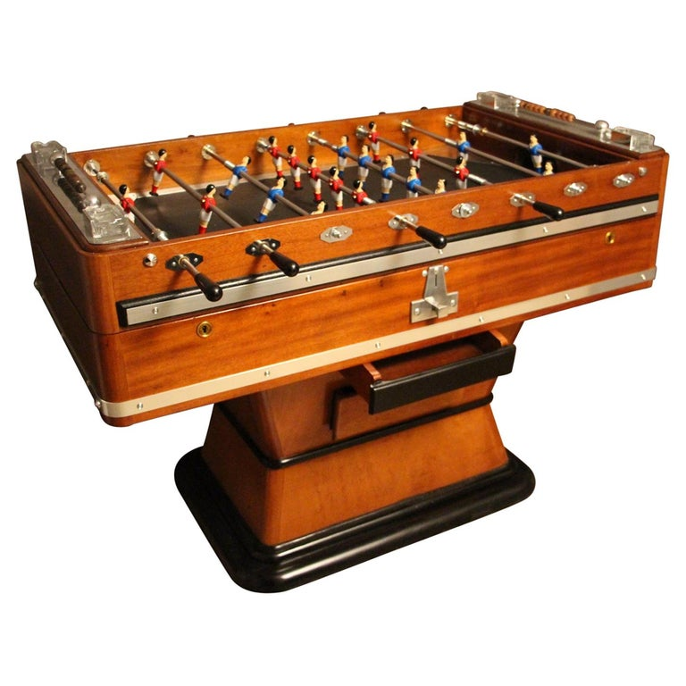 1920s Wood and Aluminum Foosball Table