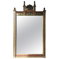 1920s Wood and Gesso Moorish Gilt Mirror