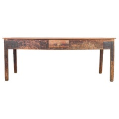1920s Wood Patinated Work Table