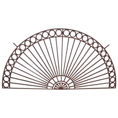 1920s Wrought Iron Transom Done in an Arched Fan Shape