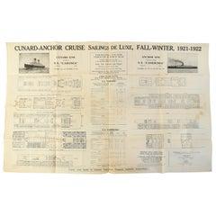 1921-1922 Cunard Line Cruise Ship Bill Post