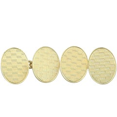 1921 Antique Cufflinks in Yellow Gold