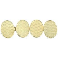1921 Antique Cufflinks in Yellow Gold