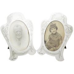 1921 Antique Sterling Silver Photograph Frames by Joseph Gloster Ltd