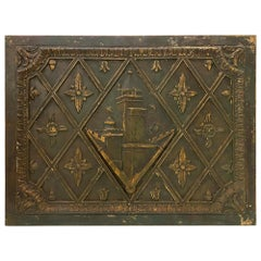 1921 Copper Panel Plaque from the NYC Crown Building Facade