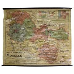 1921 French Map of the Province of Moselle By Paul Even