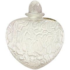 1921 René Lalique Grigri Perfume Bottle for Volnay Clear Glass and Label