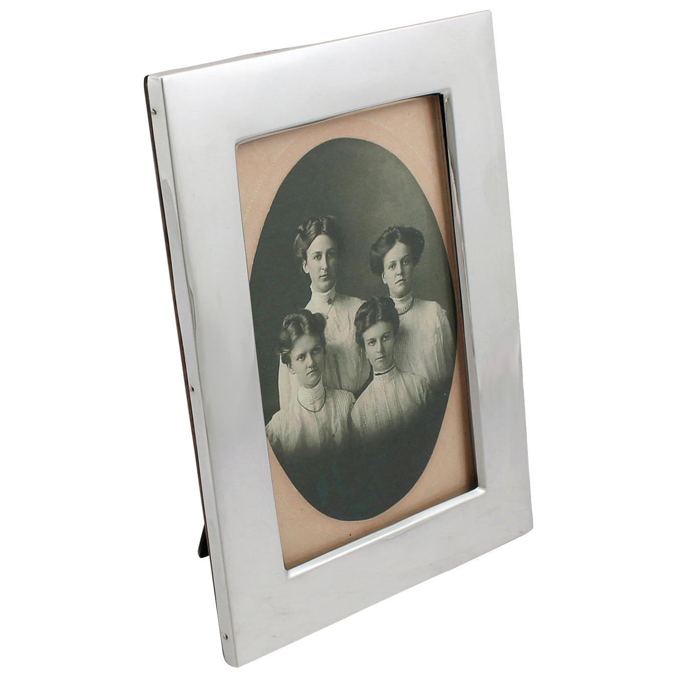 1922 Antique Birmingham Sterling Silver Photograph Frame