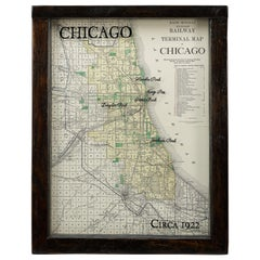 1922 Map of Chicago, Rand McNally Standard Railway Map