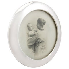 1923 Antique Sterling Silver Photograph Frame