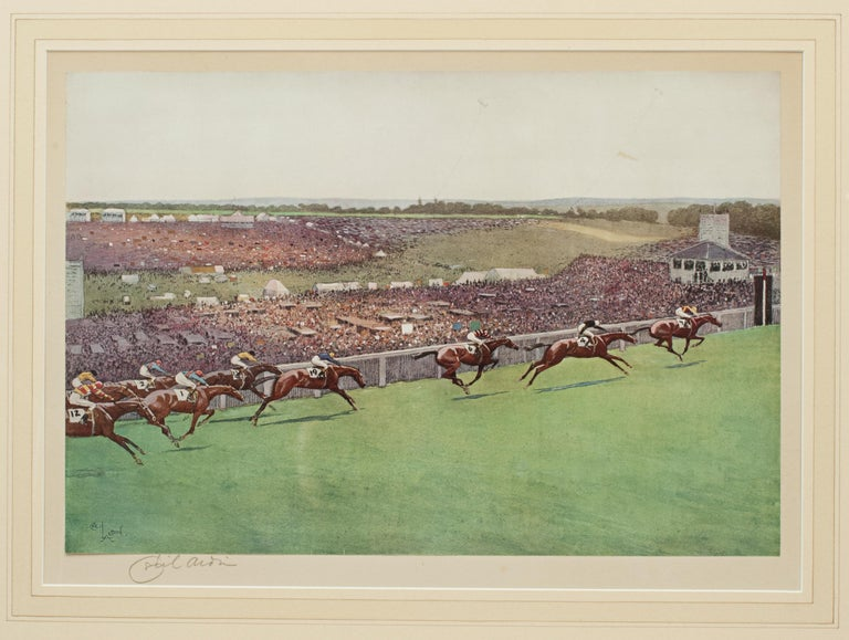 1923 Derby Prints, Start And Finish by Cecil Aldin For Sale 4