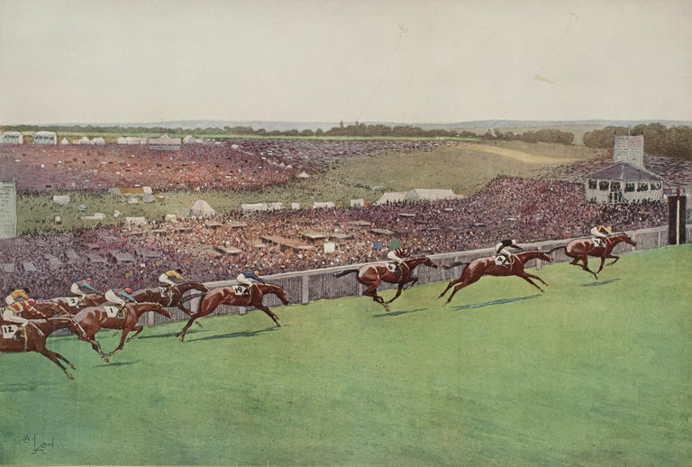 1923 Derby Prints, Start And Finish by Cecil Aldin For Sale 5