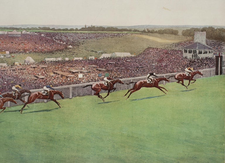 1923 Derby Prints, Start And Finish by Cecil Aldin For Sale 6