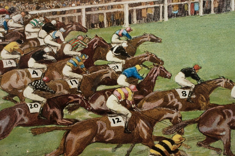 1923 Derby Prints, Start And Finish by Cecil Aldin For Sale 1