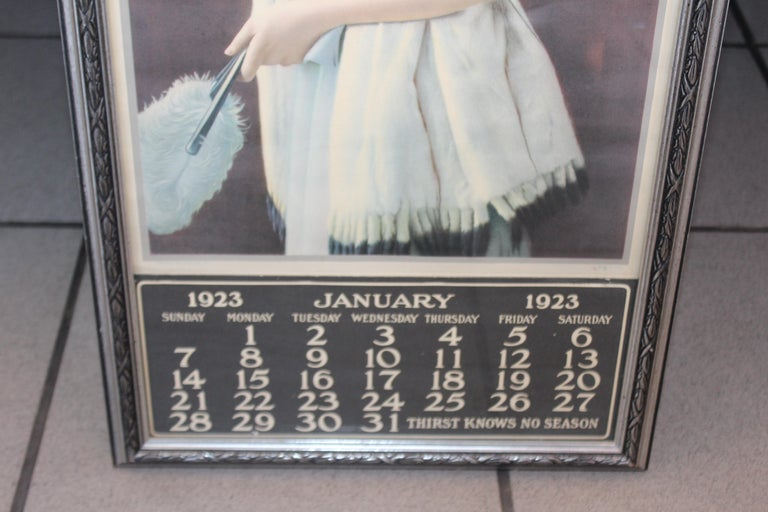 1923 January Coca-Cola Calendar Paper Advertising For Sale 10