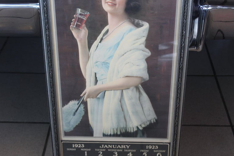 1923 January Coca-Cola Calendar Paper Advertising In Fair Condition For Sale In Orange, CA