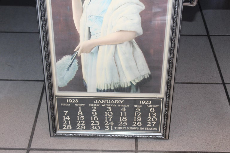 Early 20th Century 1923 January Coca-Cola Calendar Paper Advertising For Sale