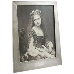 1924 Art Deco Antique Sterling Silver Photograph Frame by Sanders & Mackenzie
