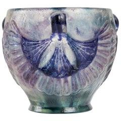 1924 Gabriel Argy-Rousseau Lotus Bowl Pate de Verre Cameo Glass